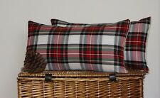 OBLONG CUSHION COVERS STEWART TARTAN RED COUNTRY BALMORAL HIGHLAND BOLSTER *:*