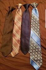 Lot Of 4 Mens Vintage clip on/ snap on ties
