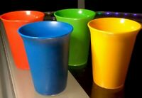 BRAND NEW Vintage Tupperware Kids Bell Tumblers Cups 7oz Set of 4 Primary Colors