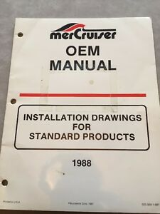 Mercruiser Marine Engine OEM Product Installation Manual MCM-MIE-Several Models