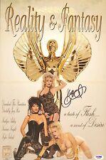 Kylie Ireland Signed 11x17 Centerfold Poster PSA/DNA COA Reality & Fantasy Auto
