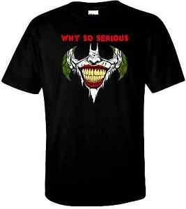 """Joker """"Why So Serious"""" T Shirt 100% Cotton Tee by BMF Apparel"""