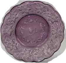 PRINCESS HOUSE FANTASIA PURPLE AMETHYST SCALLOPED LUNCHEON PLATES SET OF 4