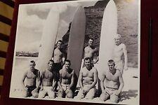 Vintage Surfers Beach 1940's Balsa Wood Longboard Surfboard Log 11x14in Poster