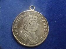 2/3 Taler ANHALT ZERBST Karl Wilhelm Henkel für Uhrkette ... Anhänger  W/17/1033