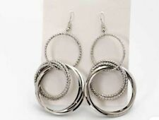 Earring Boho Festival Party Boutique Uk Silver Ring Hoop Geo Long Luxury Fashion