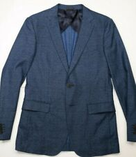 Hugo Boss Dieselstrasse 12 Stretch Blue Mens Wool Cotton Patterned Blazer 38R