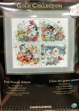 Counted Cross Stitch Kit FOUR SEASON KITTENS Dimensions Gold Collection # 35154