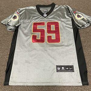 Washington Redskins London Fletcher Nike Elite Grey Shadow Jersey On Field 48