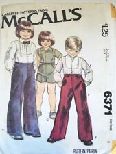 McCalls Vintage Pattern 6371 | Boys Pants, Shorts, Shirt Size 4 | Used,Complete