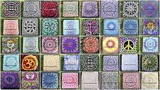 30 PC Wholesale Lot Indian Mandala Square Floor Pillow Cover Cotton Pouf Ottoman