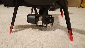 3DR SOLO Leg Extensions Red !! Increased Clearance for 3-Axis Gimbal