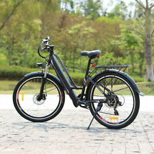 26 inch Electric Mountain Bike E-bike E City Bicycle 250 W E-MTB Cycling Black