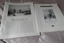 William Wyllie c1907 ART JOURNAL stampe articolo 37 pagine + libretto d'asta 1995