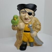 "Cast Iron Pirate Doorstop Hand-Painted 12""X9""X3"" Vintage Art Statue Decor"