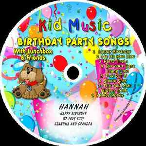 ~eBay~ Birthday Party Songs with Lunchbox & Friends Personalized Kids Music CD