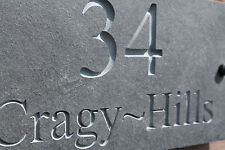 Natural Slate Deep Engraved House Door Sign Plaque 30cm x 15cm Any Font