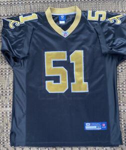 Reebok NFL On Field Vilma #51 New Orleans Saints Jersey Size 52 Stitched K5B