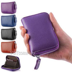 Genuine Leather Credit Card Case Wallet for Men or Women Safe Card Blocking
