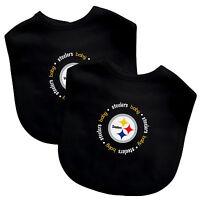 NFL Football Pittsburgh Steelers Baby Infant 2 Pack Bib Team Logo Baby Fanatic