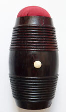 Boite en bois pour nécessaire de couture Ancien aiguilles dé à coudre tonneau