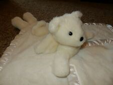 LN 30x30 MY BANKY Angel Teddy Bear MICHAEL Plush Satin Crib baby Blanket lovey