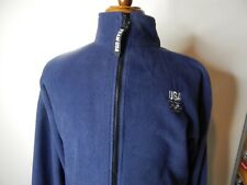 usa olimpic  fleece jacket navy blue pre-owned size xlg