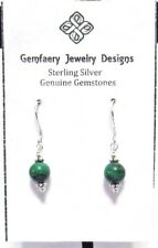 """Sterling Silver Natural """"Name Your Stone"""" Petite Dangle Earrings...Handmade USA"""