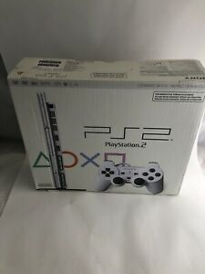 PS2 Ceramic White Playstation Box Only Slim NFR