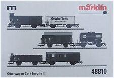 Märklin 48810- Set mit 6 Güterwagen.Pwgs 41, Om 12, Z DEA, G 10 is #NEU in OVP##