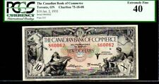 "CANADA PS971 $10 ""MERCURY - CERES"" 1935 PCGS 40! CANADIAN BANK"