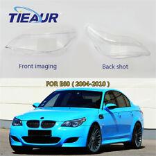 Headlight Clear Lens Cover For BMW E60 520i 520d 523i 525i 525d 535d Pair 04-10