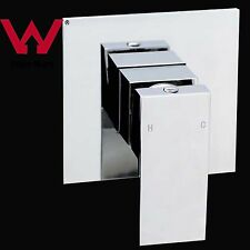 Square handheld shower wall Flick Mixer Tap brass bath water spout outlet chrome
