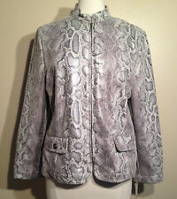Alfred Dunner® Petite Sweet Temptation Zip Front Jacket 67330 Grey 16P