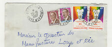 Côte d'Ivoire 4 timbres sur lettre 1987 tampon Zuénoula /L109