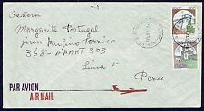 1245 ITALY TO PERU AIR MAIL COVER 1991 PIACENZA - LIMA