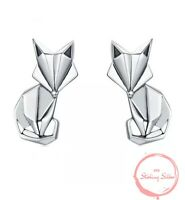 Ohrringe Damen 925er Sterlingsilber Ohrstecker Fuchs Fox Füchse Silber 925 NEU