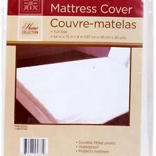 FULL SIZE MATTRESS COVER Extra Soft Plastic Fitted Protector Waterproof