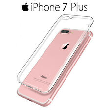 Funda Carcasa Gel Silicona Transparente con Antipolvo para iPhone 7 Plus - 5,5""