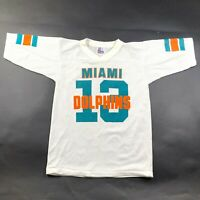 Vintage 90s Miami Dolphins #16 White Youth S (6-8) Wilson NFL Football Jersey