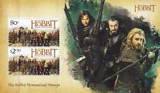 """Tolkien / Hobbit: Briefmarkenblock """"Schlacht der fünf Heere"""" (NZ)"""