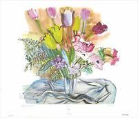 Raoul Dufy Tulips Floral Bouquet Offset Lithograph 23 x 29