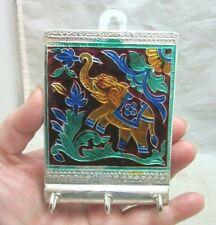 key holder hooks. Embossed foil elephant. Made in India