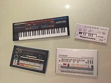 Roland TR-909 TR-808 TB-303 Juno 106 Synth Fridge Magnet Set Retro Plastic