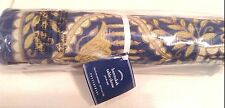 Pottery Barn Hanukkah Metallic Blue Gold Table Throw 50x50  NWT! Menorah Linen