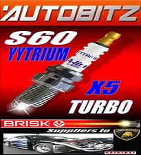 FITS VOLVO S60 TURBO BRISK SPARKPLUGS X4 100K GUARANTEE YYTRIUM