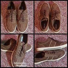 MUK LUKS Men's Parker Fashion Sneaker Shoes Brown/White Size 10 NWOB
