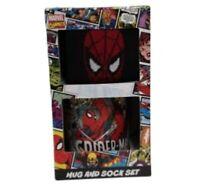 Marvel Comic Ceramic Mug and Sock Set Spider Man Christmas Santa Gift Xmas