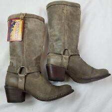 "Durango 13"" Philly Harness Dark Gray Zip Up Boots Women's Size 9.5 RD4517 NWT"