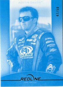 2012 Press Pass Redline Racing cyan parallel /50 #42 Austin Dillon